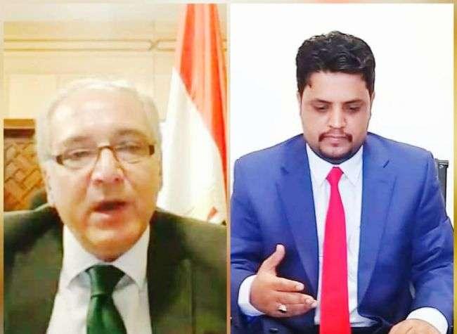 الوزير كلشات يطلع السفير المصري على جهود الوزارة والتحديات التي تواجه قطاع الكهرباء